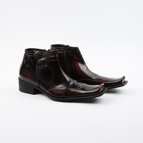 Tom Wing-Style Boots // Burgundy (US: 6.5)