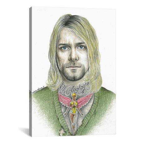 "Kurt Cobain (12""W x 18""H x 0.75""D)"