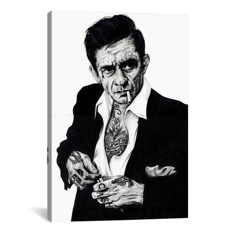 """Johnny Cash (18""""W x 26""""H x 0.75""""D)"""