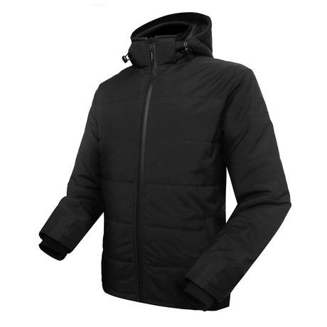 Men Padded Jacket // Black (Medium)