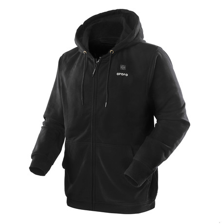Heated Hoodie // Black (Small)