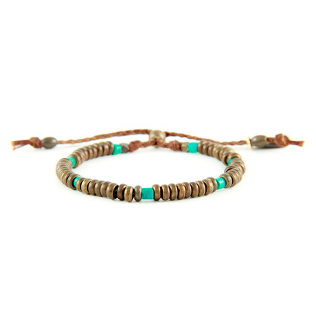 He Donis Bracelet // Turquoise + Brass