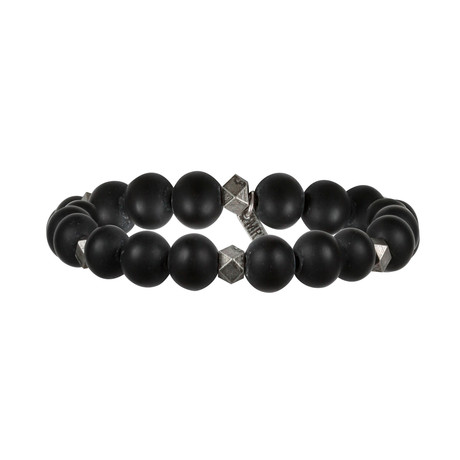 Bold Move Bracelet // Black + Silver