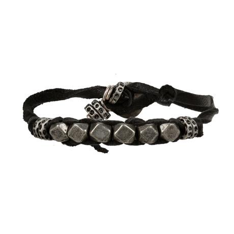 Corded Bracelet Silver // Ox + Black