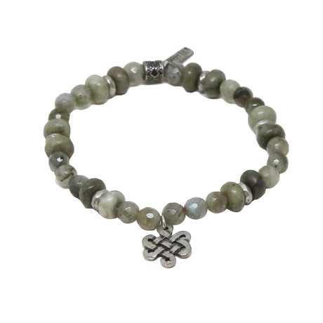 Celtic Yell Bracelet // Grey + Antique Silver