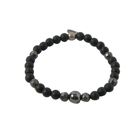 Iron Ire Bracelet // Onyx + Antique Silver