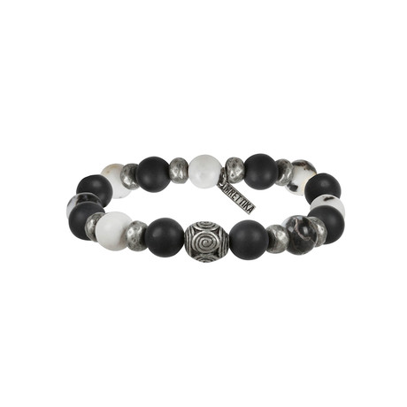 Storm Be Brew Bracelet // Black + Antique Silver