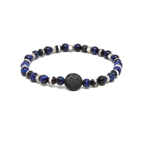 Darren Bracelet // Blue + Black + Silver Ox