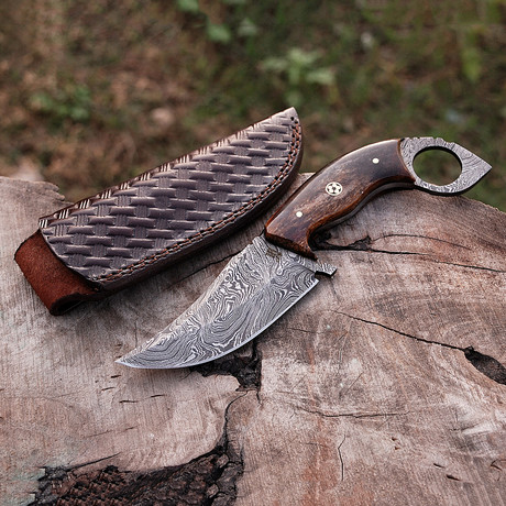 Damascus Skinner Knife // HK0256