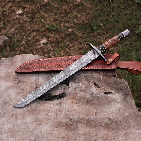 Damascus Tanto Knife // Bk0206
