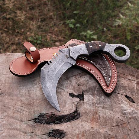 Damascus Karambit Knife //Hk0257