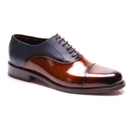 Pablo Oxford Dress Shoes // Cognac + Dark Blue (Euro: 39)