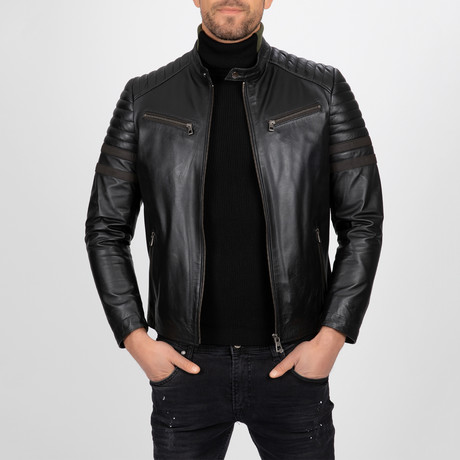 Moto Leather Jacket // Black (S)