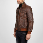 Classic Leather Jacket // Brown (XL)