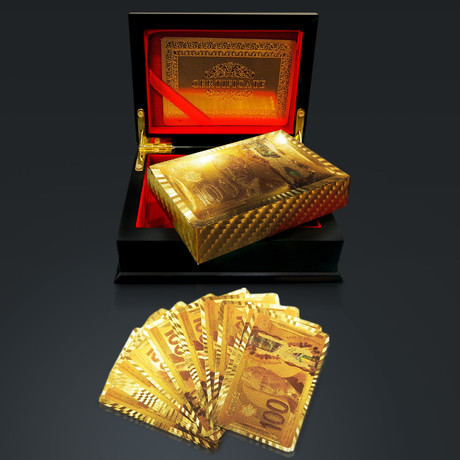 24K Gold Plated Playing Cards // $100 CAD (1 Deck + Single Box)
