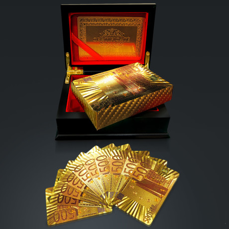 24K Gold Plated Playing Cards // €500 (1 Deck + Single Box)
