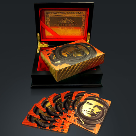 24K Gold Plated Playing Cards // Che Guevara (1 Deck + Single Box)