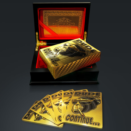 24K Gold Plated Playing Cards // I know you lying but Continue… (1 Deck + Single Box)
