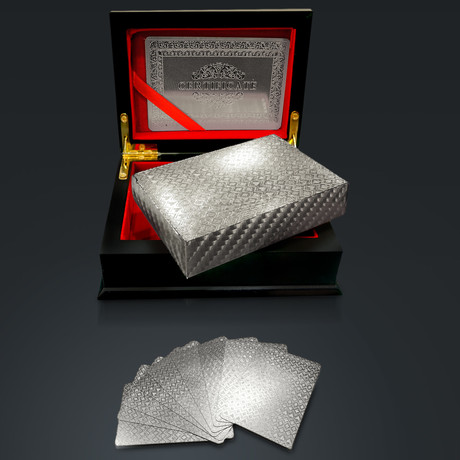 Platinum Plated Playings Cards // Mosaic Cards Suits (1 Deck + Single Box)