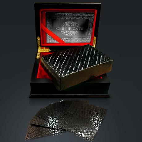 Obsidian Carbonite Playings Cards // HERRINGBONE (1 Deck + Single Box)