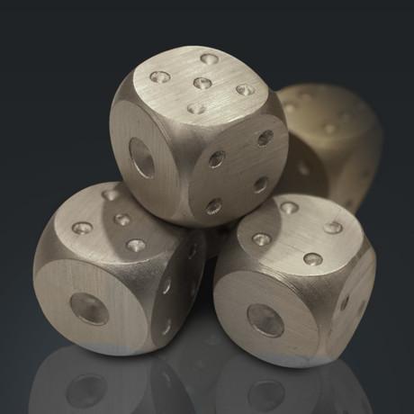 Precision Dice // Aluminum Tube // Set Of 5 (Silver)