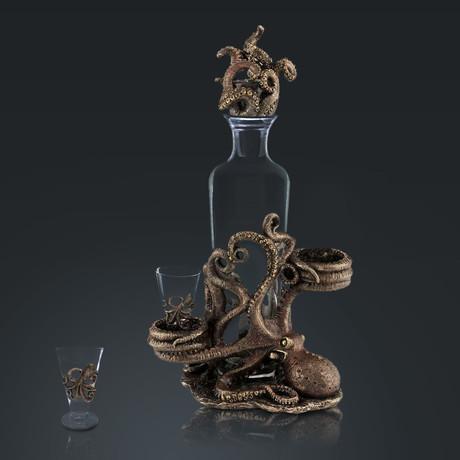 Octopus // Spirit Glass Decanter