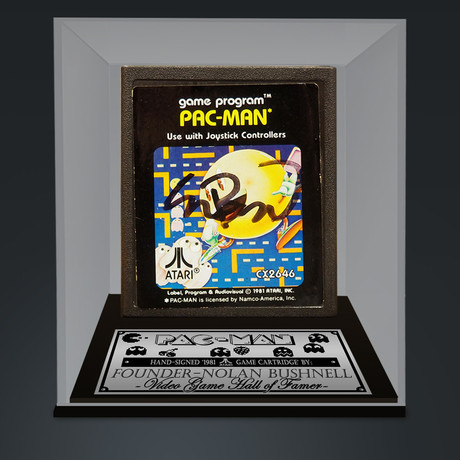 Pacman - ATARI 2600 // Hand Signed By Nolan Bushnell // Museum Display