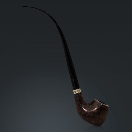 """Italian Briar Pipe // 12"""" Long Stem Churchwarden Pipe"""