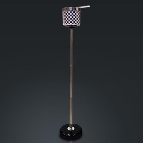 Telescopic ashtray // Black Checkered Stainless Steel