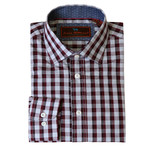 Woven Button Down Shirt //Wine (XS)