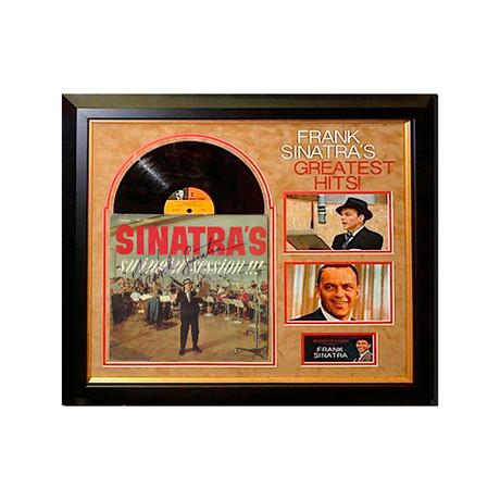 Signed + Framed Album Collage // Frank Sinatra