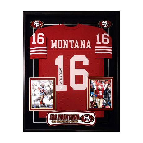 Signed + Framed Jersey // Joe Montana