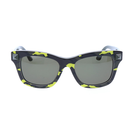 Unisex V670SC Sunglasses // Fluorescent Yellow + Army Green