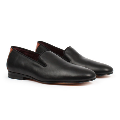 Two Tone Slip-on Dress Shoes // Black (US: 6)