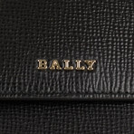 Bally // Calf Leather Bi-fold Snap Wallet // Black