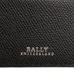 Bally // Bodolo Calf Leather Bi-fold Card Wallet // Black