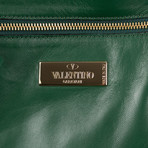 Valentino // Leather Messenger Cross Body Bag // Brown