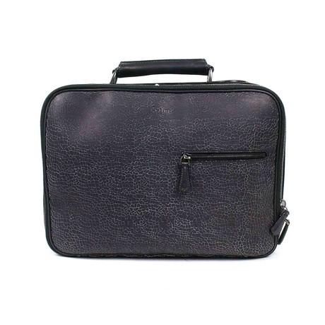 Berluti // Leather Medium Briefcase Travel Bag // Gray