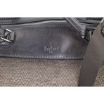 Berluti // Herringbone Wool + Leather Briefcase Shoulder Bag // Brown + Black
