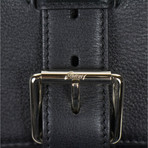 Brioni // Victor Leather Cashmere Shoulder Carry-On Bag // Black