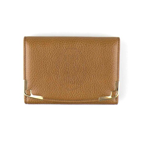 Cartier // Marcello Double Flap Wallet // Brown Tobacco