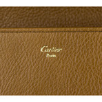 Cartier // Marcello Zipped Compact Wallet // Brown Tobacco
