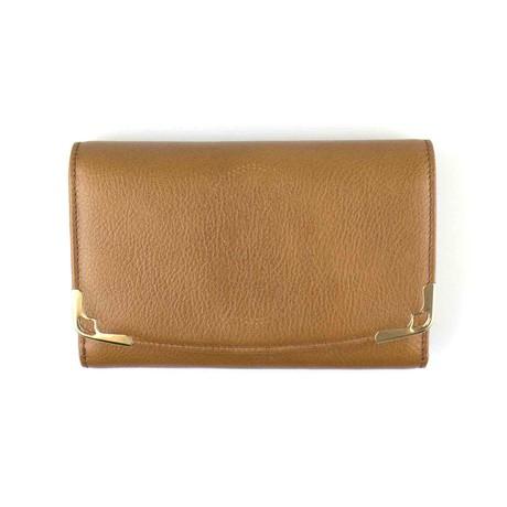 Cartier // Marcello Zipped Compact Wallet // Brown Tobacco