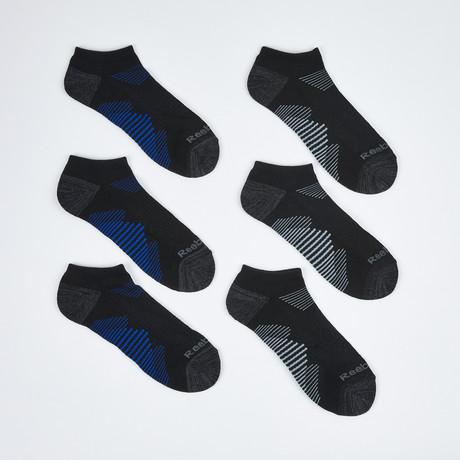 Kraig Low Cut Socks // 6-Pack // Black