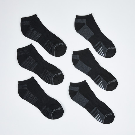 Donald Low Cut Socks // 6-Pack // Black