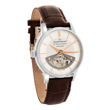 Claude Bernard By Edox Open Heart Automatic // 85017.3AIR TSF