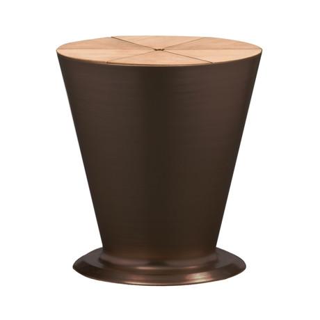 Highrise // End Table + Hidden Ice Bucket (Bronze)