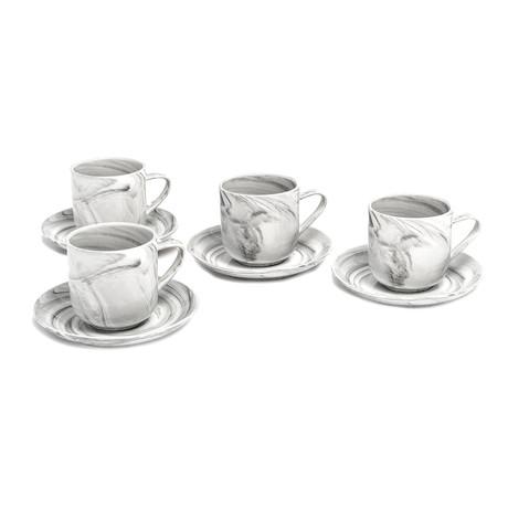 7oz Tea Coffee // Marble // Set of 4