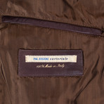 Pal Zileri Sartoriale // Ostrich Leather Bomber Jacket // Brown (Euro: 50)