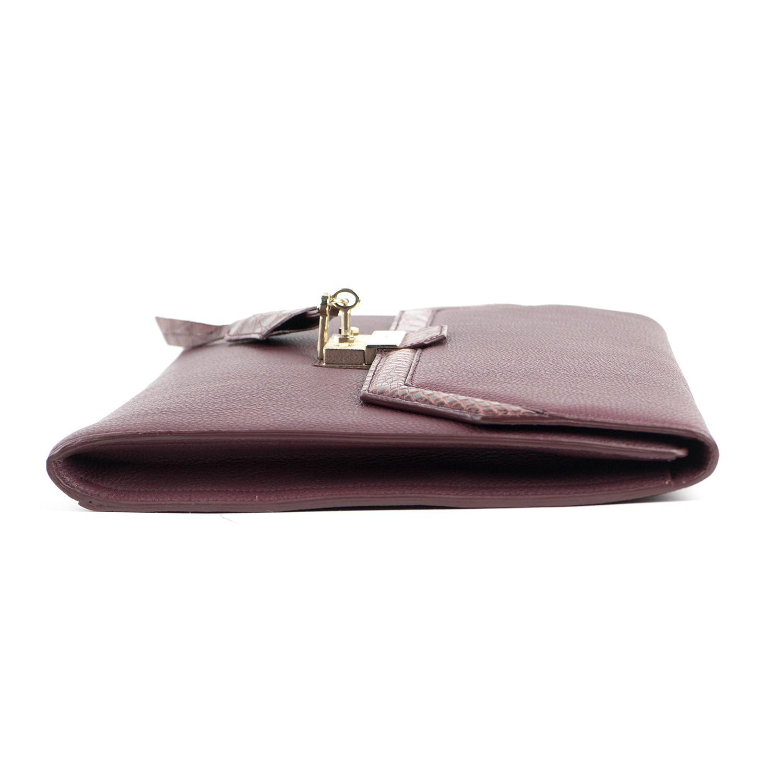 0317f7acf Brioni // Oxblood Pebbled Crocodile Leather Portfolio Bag // Burgundy
